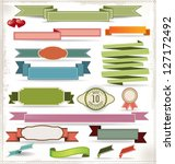 set of retro ribbons and labels | Shutterstock .eps vector #127172492