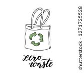 zero waste shopping bag... | Shutterstock .eps vector #1271725528