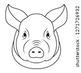 pig head isolated on white... | Shutterstock . vector #1271726932