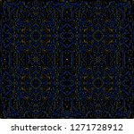 abstract futuristic hud pattern.... | Shutterstock .eps vector #1271728912