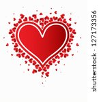 love background with hearts... | Shutterstock .eps vector #127173356