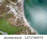 sand beach aerial  top view of... | Shutterstock . vector #1271740975