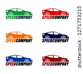 car racing icon logo vector | Shutterstock .eps vector #1271753215