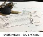 a collage of bank deposit slip... | Shutterstock . vector #1271755882