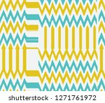 vector simple and retro  zigzag ... | Shutterstock .eps vector #1271761972