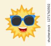 sun character   vector... | Shutterstock .eps vector #1271763502