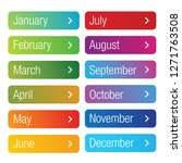 month of the year button set | Shutterstock .eps vector #1271763508