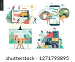 business series set  color 1  ... | Shutterstock .eps vector #1271793895