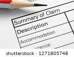 summary of claim | Shutterstock . vector #1271805748