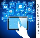 social media  communication in...   Shutterstock .eps vector #127181066