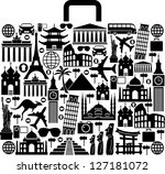 suitcase composed from... | Shutterstock .eps vector #127181072