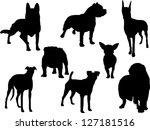 dogs silhouette | Shutterstock .eps vector #127181516