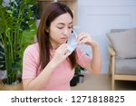 woman suffer from cough with...   Shutterstock . vector #1271818825