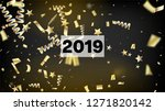 2019 christmas tinsel confetti  ... | Shutterstock .eps vector #1271820142