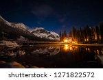 Emerald Lake Lodge At Night In...