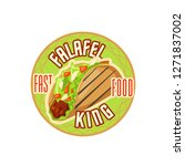 fast food restaurant label with ... | Shutterstock .eps vector #1271837002