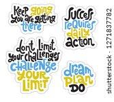 sticker set design template... | Shutterstock .eps vector #1271837782