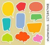 set of blank empty white speech ... | Shutterstock .eps vector #1271847448