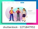flat illustration of teamwork...   Shutterstock .eps vector #1271847952