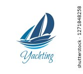 yachting sport or club icon of... | Shutterstock .eps vector #1271848258