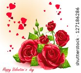 Card For Valentine's Day Red...