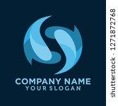 letter s business logo template | Shutterstock .eps vector #1271872768