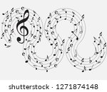 music notes .abstract musical... | Shutterstock .eps vector #1271874148