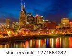 downtown nashville skyline | Shutterstock . vector #1271884282