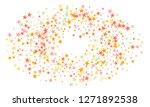 colorful stars confetti. vector ... | Shutterstock .eps vector #1271892538