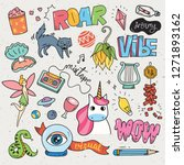 set of cute patches design | Shutterstock .eps vector #1271893162