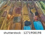 aerial view of ore and conveyor ...   Shutterstock . vector #1271908198