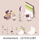 vector isometric photo studio... | Shutterstock .eps vector #1271911285