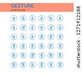 gesture icons set. ui pixel...