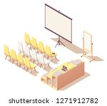 vector isometric presentation... | Shutterstock .eps vector #1271912782