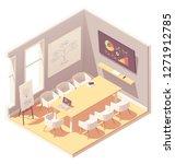 vector isometric office... | Shutterstock .eps vector #1271912785