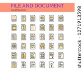 file and document icons set. ui ...