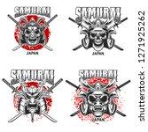 emblem template with samurai... | Shutterstock .eps vector #1271925262