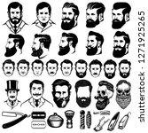 set of vintage barber... | Shutterstock .eps vector #1271925265