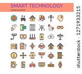 smart technology icons set. ui...