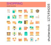 shopping icons set. ui pixel...
