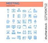 meeting icons set. ui pixel... | Shutterstock .eps vector #1271934712