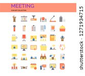 meeting icons set. ui pixel... | Shutterstock .eps vector #1271934715