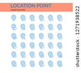 location point icons set. ui...