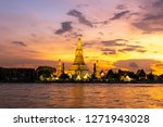 beautiful sunset wat arun... | Shutterstock . vector #1271943028