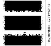 set of grunge textures on white ... | Shutterstock .eps vector #1271943448