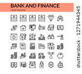 bank and finance icons set. ui... | Shutterstock .eps vector #1271944345