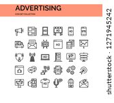 advertising icons set. ui pixel ... | Shutterstock .eps vector #1271945242
