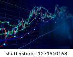 Stock Market Trading Graph And...