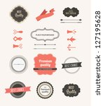 vector illustration. collection ... | Shutterstock .eps vector #127195628