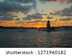 wonderful sunset with maiden's...   Shutterstock . vector #1271960182